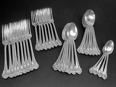 Partial Set of Antique International Irene Sterling Silver Flatware c1902