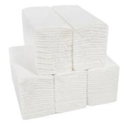 White Soft Embossed Luxury C Fold 2 Ply Paper Hand Towel Manufactured in UK