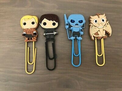 4 Game of Thrones Character Bookmark Paperclip Drogon Brienne Arya Walker NEW