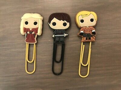 3 Game of Thrones Character Bookmark Paperclip Cersei Arya Brienne Set Cute NEW