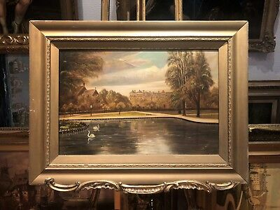 OLD MASTER SIGNED WILLIAM ROSE  OIL PAINTING 19th Century  GOLD GILT FRAME