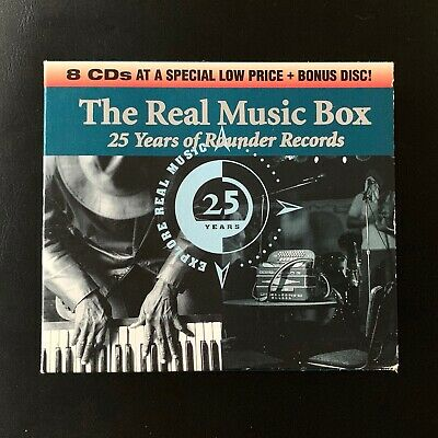 Real Music Box 25 Years Rounder, 9 CDs 1995 Folk + Blues + Bluegrass + Louisiana