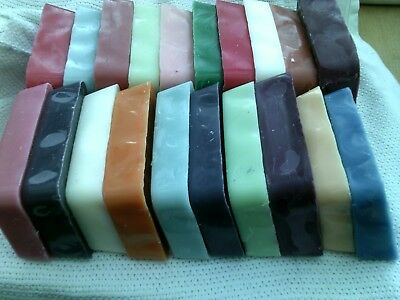 24. Blocks Candle making  wax PLUS 6 free = 30 Coloured and lightly scented ,