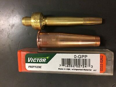 Lot of 2 Radnor GPP Size 0 Victor Style Two Piece MAPP Propylene Cutting Tip