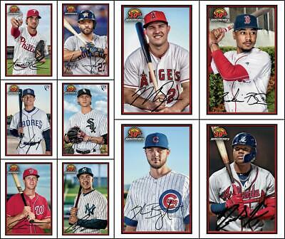 Topps BUNT BOWMAN 30th Anniversary 2019 Drop 2 [10 CARD BASE SET] Trout/Acuna++