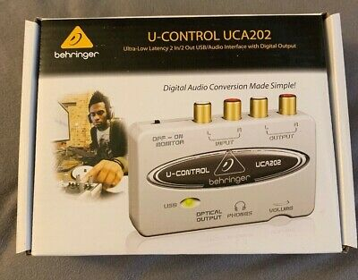 Behringer U-CONTROL UCA202 2-Ch USB Audio Recording Interface w/ Optical Out