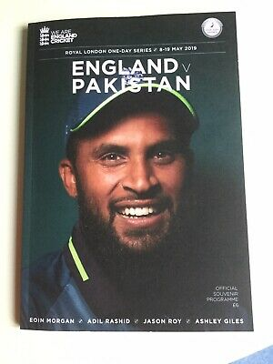 ENGLAND v PAKISTAN Royal London One Day Series 8-19 MAY 2019 OFFICIAL PROGRAMME