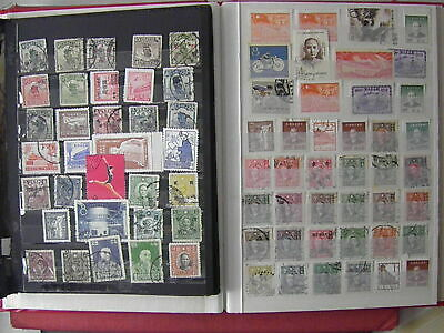 China Sun Yat Sen Mao Tien An Men Stalin Army Sport etc. 75 Old Stamps SEE PHOTO