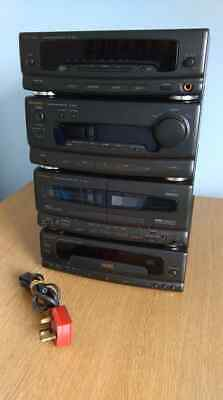 Technics Ch550 Stack System Stereo With  Cd And Twin Tape Deck