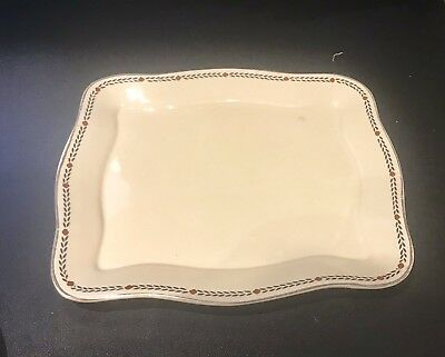 Crown Ducal Poppy Art Deco Large Underplate for Cheese Dish