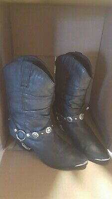 49279e3a297 DINGO OLIVIA DI522 Womens Black Pigskin Slouch Western Boots ...