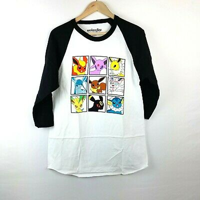 d11a1ee0 NWT Pokemon Eevee Evolution Graphic Raglan Baseball T Shirt Top Size M, L