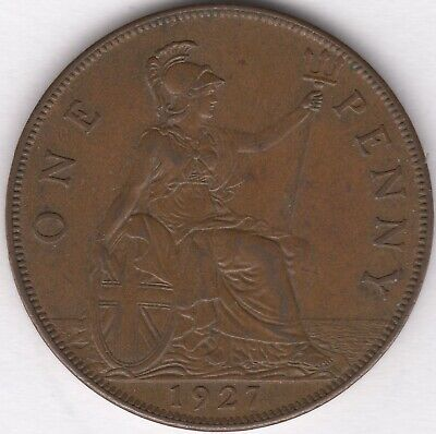 1927 George V One Penny | British Coins | Pennies2Pounds