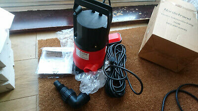 Nordstrand PWT-PUM02 Submersable 750W 230Vac Drainage Pump w/ Float Switch