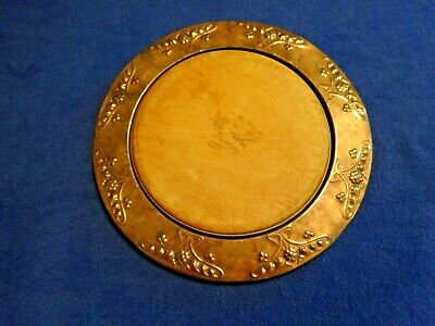 English Antique Hand-Hammered Heavy Gauge Copper Tray Bread Plate & Board