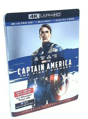 Captain America: The First Avenger (4K UHD+Blu-ray+Digital, 2019) w/ Slipcover