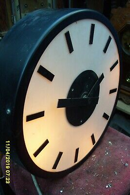 "Wall  Clock Electric  Lights Up  White  14""  Dial"