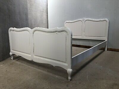 Vintage French Double size bed/ Painted French bed shabby chic style(VB421)