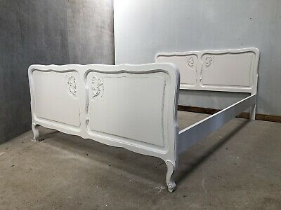 Vintage French Double size bed/ Painted French bed shabby chic style(VB420)