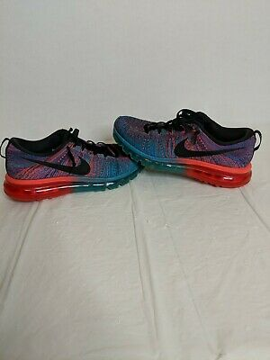 5dcf908361 NIKE AIR MAX Flyknit 360 Crimson Blue Black Running Training Shoes ...