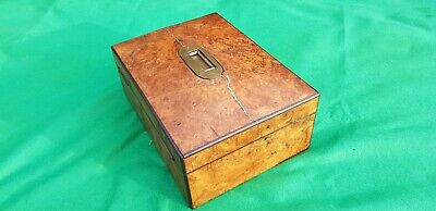 Victorian Burr Walnut Stationery box in need of some restoration