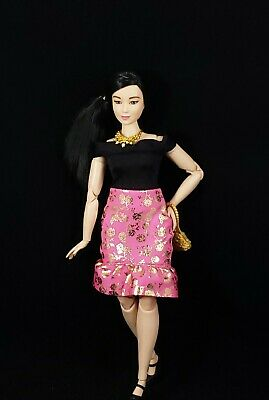 Made to Move Hybrid Barbie Curvy Doll with Asian MTM Head AA OOAK