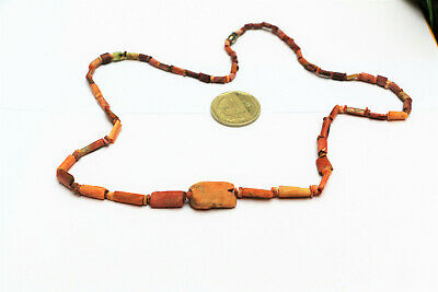 Pre Columbian OLD TRADE BEADS Necklace shell Spondylus antique moche