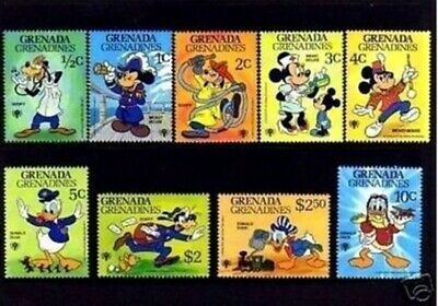 1979 Activities Michel 357-362+block 47 Walt Disney Grenada Grenadines