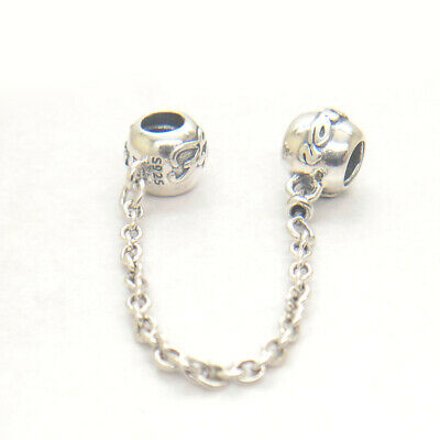 5da3e5189 Authentic 925 Sterling Silver Charm Beads Family Forever Ties Safety Chain