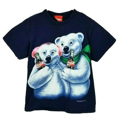 1994 Vintage Men's Large Coca-Cola Bear Winter Holiday Christmas T-Shirt