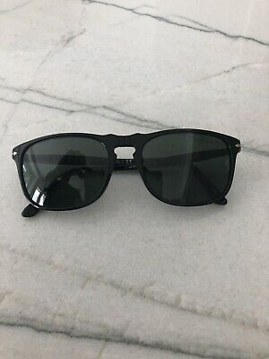 935fde55d1 PERSOL 3019 S 95 31 Shiny Black Green New Authentic Made In Italy ...
