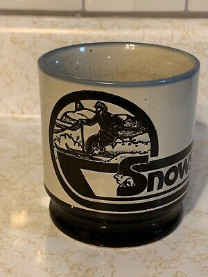 Snowshoe Coffee Mug VTG Cup Skiing Mountains West Virginia Resort Etched Drink