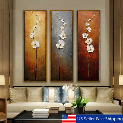 3Pcs Colorful Flower Canvas Abstract Painting Print Art Wall Home Decor