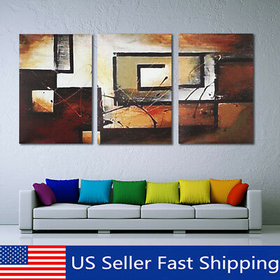 3Pcs Modern Canvas Abstract Print Wall Art Painting Picture Home Decor  US