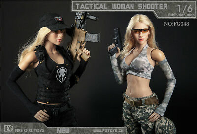 1//6 Scale Tactical Female Shooter CAMO Combat Pants