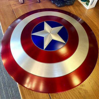 Captain America Shield 1:1 Full Aluminum Metal Shield Cosplay Props By DHL