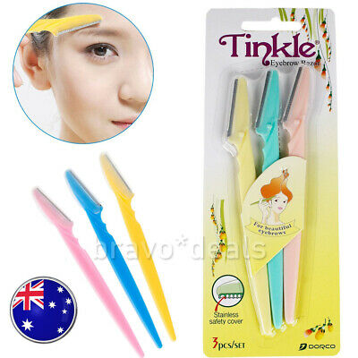 6/12pcs Tinkle Eyebrow Face Razor Trimmer Shaper Hair Remover Tool Shaver Blade