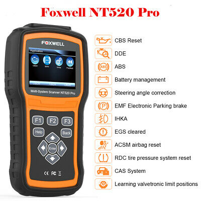 FOXWELL NT520 PRO for Auto DIAGNOSTIC SCANNER TOOL ABS SRS CODE READER NT510