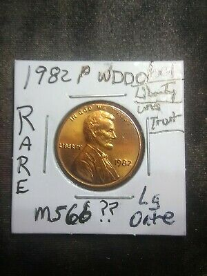 1982 1C Doubled Die Obverse Lincoln Cent. WDDO-001  rare very rare