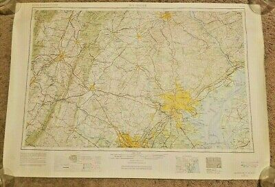 US Army Command, Geological Survey USGS 1957, Revised 1969 Map, Baltimore, MD.