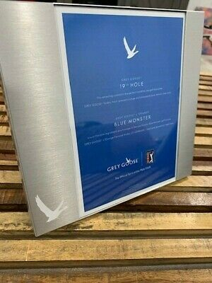 Grey Goose Vodka Metal Picture Frame 7 1/2 x 7 inches Stainless PGA Special
