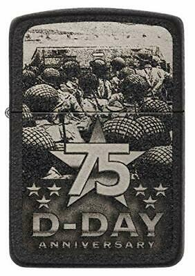 ZIPPO Collectible 75th Anniversary D-Day, Numbered, Limited, Black Crackle 29930
