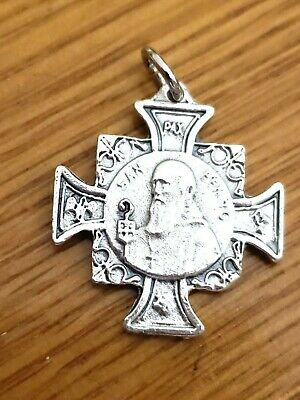 Catholic Religious St Saint Benedict Benito Medal Cross Protection Against Satan