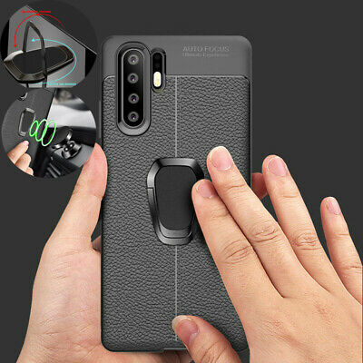 Magnetic Finger Stand Leather Case For Huawei Mate 20 P30 P20 Lite Pro Nova 3e