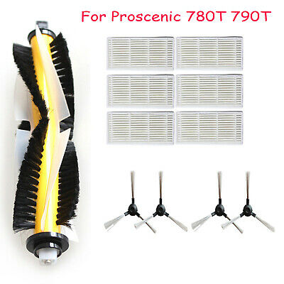 Roller Side Brush Filters Replace Parts for Proscenic 780T 790T Vacuum Cleaner