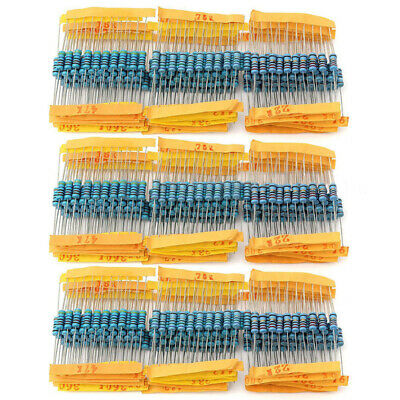 1000pcs 1% 1W Metal Film Resistor Assorted Kit Set  1 ohm~10M ohm 100 Values