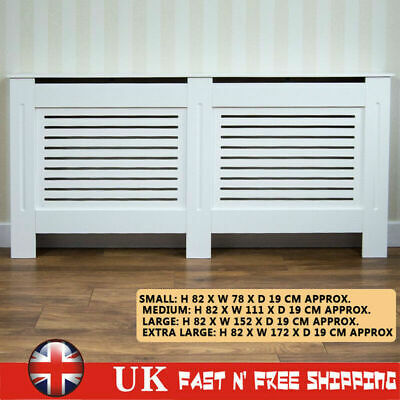 Radiator Cover White Finished Painted Modern Traditional Wood Grill Cabinet Chic