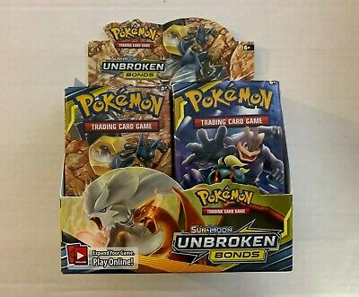 Pokemon TCG Sun & Moon Unbroken Bonds Booster Box Repack - 1 Secret Rare Inside