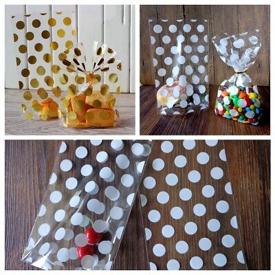 50 100pcs Cellophane Party Favor Bags Cello Cookie Sweet Candy Biscuit Gift Bag
