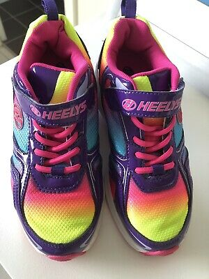 AS NEW GIRLS HEELYS SKATE SHOES HEELY SIZE US2 UK 1 Perfect Condition RRP $150